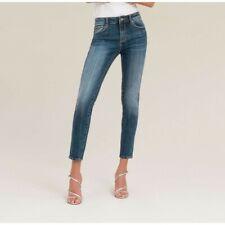Women/'s Plus Size A Contrasto Blu Nero Elastico Jeans Attillati circa UK 10-20
