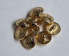 10pc 12mm Gold Anchor design Shirt Blouse Suit Blazer Cardigan Button 0073