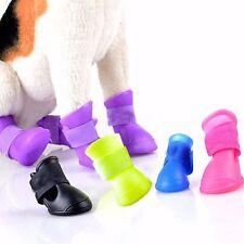 4 PCS Mascotas Impermeable Caucho De PU Perro Zapatos Cachorro De Lluvia Botas
