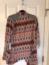 Gimmicks Womens BKE The Buckle Aztec Shirt Sheer Long Sleeve Top Size Small