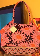 Vera Bradley Cute Angle Tote Retired Loves Me Pattern Pink Navy New With Tags