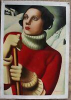 "Art DECO Repro of Tamara de Lempicka Saint Moritz, 1929 oil painting 24""x36"""