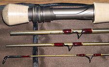 9wt 9' FAST ACTION IM12 Nano fly rod + cordura rod tube and rod sock