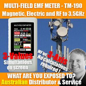 Multi-Field EMF RF Gauss meter TENMARS TM-190 with 5G T to Mob freq - Oz Seller