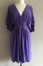 TED BAKER Purple Silk Dress~Size 2 Small UK10 EUR38~ Kaftan - Summer holiday