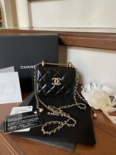 Chanel Flap Bag pearl crush black with gold