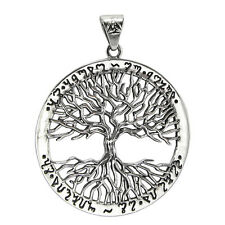 Sterling Silver Yggdrasil Tree of Life As Above So Below Theban Pendant Jewelry