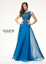 Colette Grad Prom Dress CL18277 Peacock Size 4 NWT