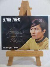 Star Trek TOS 2016 50th anniversary silver autograph card George Takei as Sulu