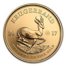 2017 South Africa 1 oz Gold Krugerrand 50th Anniv. BU (Privy) - SKU #116256