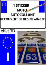 1 sticker plaque immatriculation MOTO DOMING 3D RESINE ITALIE I