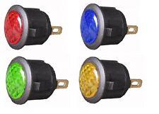 4x L.E.D Avvertimento Luci 12V adatta 20mm FORO LED Blu Rosso Verde Ambra DASH 11 - 14