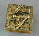 Brass Sundial Compass Square 3  Dollond London Nautical Antique Vintage Gift
