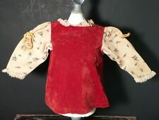 Tagged 1971 Kenner Crumper Doll Maroon Velvet Dress with Floral Sleeves