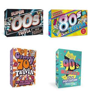 Trivia Quiz Cards Games Decades Retro 70s 80s 90s 00s Family Dinner Party