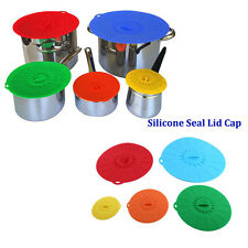 Home Kitchen Anti-dust Glass Microwave Bowl Cover Suction Seal Lid Silicon AY