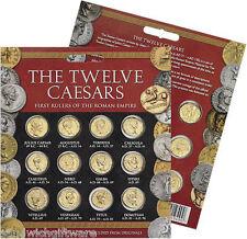 NUOVO: i dodici Cesari Aureus & Denarius ri-produzione 24 moneta Twin Set Pack -