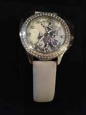 Ed Hardy Butterfly Watch By Christian Audigier W/Swarovski Crystals,Leather Band