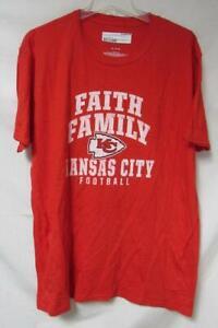Kansas City Chiefs Men's Size X-Large Faith Family Football T-Shirt A1 3847