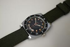 NOS Vintage Caravelle Bulova Watch Mechanical Diver Stainless Steel