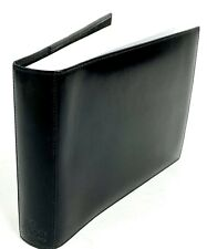 "Gucci 6"" x 8"" Black Leather Photo Album Made in Italy New"