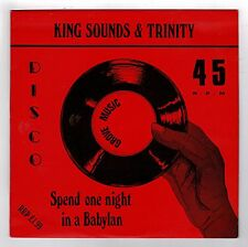 "KING SOUNDS & TRINITY-spend one night in a babylon 12""    (hear)    reggae roots"