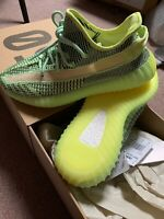 Adidas Yeezy Boost 350 V2 Yeezreel UK 10 Glow Static Non Ref Frozen Yellow 💯🔥