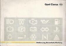 OPEL CORSA A Betriebsanleitung 1990 Bedienungsanleitung Handbuch  BA