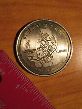 2002 Metal CHIPOTLE Mexican Grill COIN/TOKEN Good4 Free Burrito Gift Coupon Card