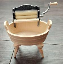 DOLLHOUSE MINIATURE - 1/12 SCALE - BODO HENNIG WORKING WRINGER & WASH TUB