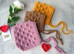 handmade crochet baby pixie hat, baby bonnet, kids boy girl, knitted bonnet,