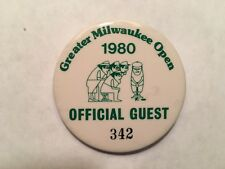 Pro Golfer Jerry McGee's 1980 Greater Milwaukee Open Official Guest Entry Badge