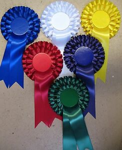 ROSETTES Any Colour - Plain centres for Election 2 tiers Any Quantity
