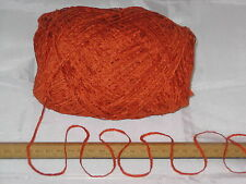 100g ball Clementine Orange Chenille knitting wool yarn soft 4 ply SOFT lovely!!