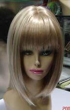 Haute qualité Mode blonde Moyen droit Femmes Bob cheveux Cosplay perruques