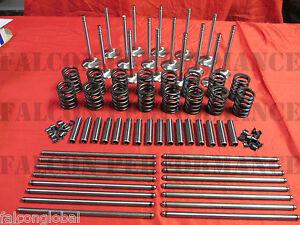 Cadillac 472 500 1968-73 Intake/Exhaust Valves+Springs+Guides+Pushrods+Locks Kit