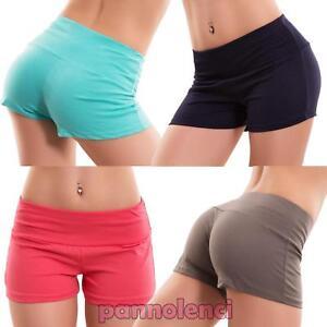 Pantaloncini donna shorts fitness sport palestra elastici hot pant nuovi CC-1436