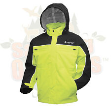 XL Black & Hi Vis Green Frogg Toggs Pilot Cruiser Motorcycle Rain Jacket