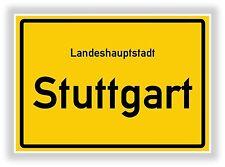 Ortsschild STUTTGART Ortstafel Landeshauptstadt Baden Würtemberg Geschenkidee