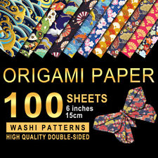 100x 15*15cm Japanese style Sided Origami Paper Square Sheet For Crafts Projects
