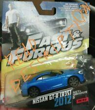 Fast Furious mattel '12 NISSAN GT-R R35 loose 1:55
