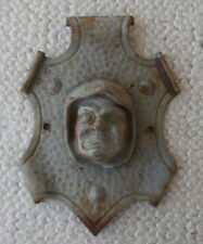 Patinated Cast Iron Bradley & Hubbard Monk Face Plaque or Lamp/Chandelier Part