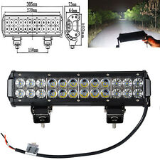 72W 12INCH LED Work LIGHT BAR COMBO OFFROAD JEEP PICKUP JK FORD BUMPER 4X4 ATV