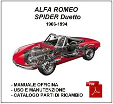 ALFA ROMEO SPIDER Duetto / Junior Manuale Officina + Libretto uso manutenzione