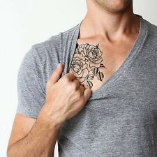 SHIP FROM NY -  Twin Rose temporary tattoo