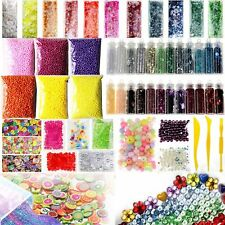 55 Pack Slime Beads Charms, Include Fishbowl beads, Foam Balls Glitter Jars E9M6