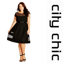 CITY CHIC  *DELICATE LACE* FIT & FLARE DRESS  Sz XL  22W  NEW  NORDSTROM   $ 119