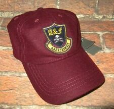 MENS ABERCROMBIE & FITCH MAROON BURGUNDY HAT STRAPBACK CAP ONE SIZE
