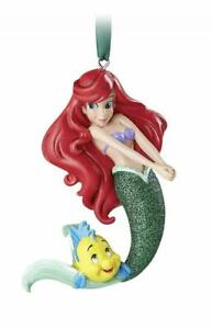 Disney Parks Ariel and Flounder Glitter Christmas Ornament New with Tags