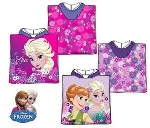 Disney Princess Frozen Girls Toddler Children Hooded Poncho Towel 100% Cotton